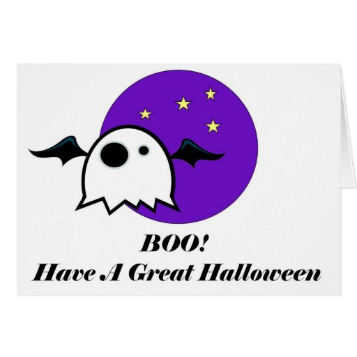 Gran tarjeta de Halloween del ABUCHEO