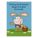 Gran tarjeta de pascua del humor de la haba de jal