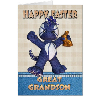 Gran - tarjeta de pascua del nieto - dragón Chocol