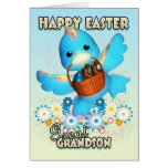 Gran - tarjeta de pascua del nieto - pato lindo co