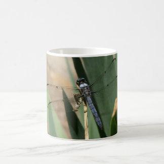 Gran taza azul de la libélula de la desnatadora