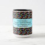 Gran taza de café de la abuela del feliz cumpleaño