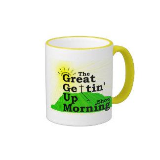 Gran taza de la mañana que se levanta