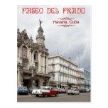 Gran teatro de La Habana, Paseo del Prado, Cuba Tarjeta Postal