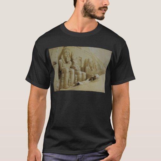 Gran templo Aboo Simbel de David Roberts Playera