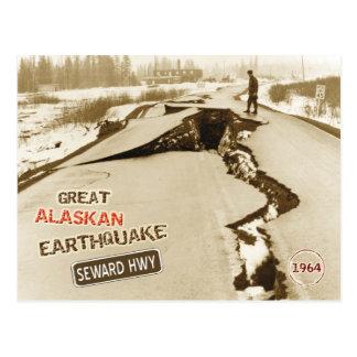 Gran terremoto de Alaska 1964 Postales