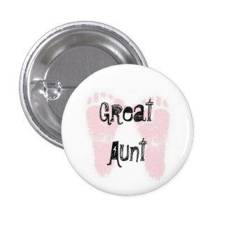 Gran tía Button Pin Redondo De 1 Pulgada