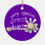 Gran tía muy especial Flower Keepsake Adorno Para Reyes
