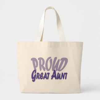 Gran tía orgullosa bolsa tela grande