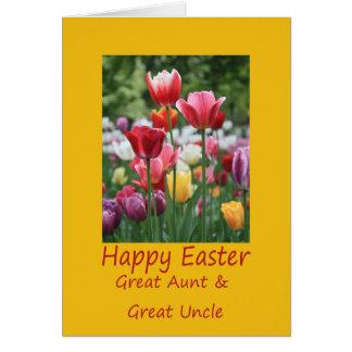 Gran tía y gran tío Happy Pascua Tarjeta De Felicitación