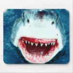 Gran tiburón blanco alfombrilla de raton