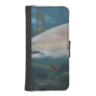 Gran tiburón blanco asustadizo funda tipo cartera para iPhone 5