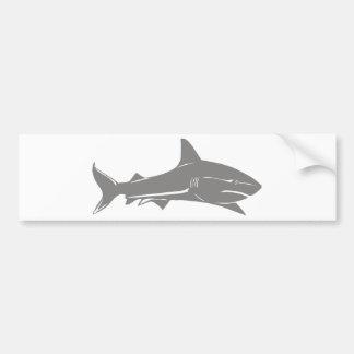 Gran tiburón blanco pegatina de parachoque