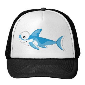 Gran tiburón blanco del dibujo animado gorra