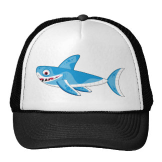 Gran tiburón blanco del dibujo animado gorros