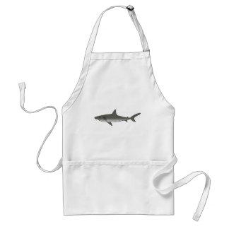 Gran tiburón blanco delantales