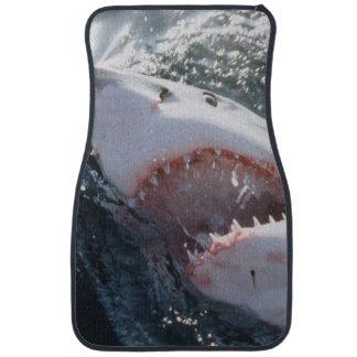 Gran tiburón blanco en el mar alfombrilla de coche