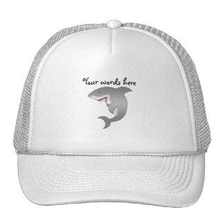 Gran tiburón blanco gorras