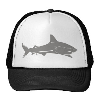 Gran tiburón blanco gorras de camionero