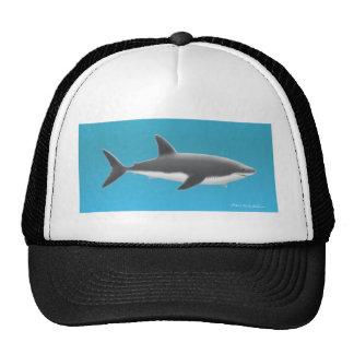Gran tiburón blanco gorros