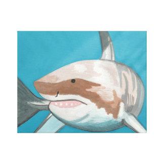 Gran tiburón blanco impresiones de lienzo