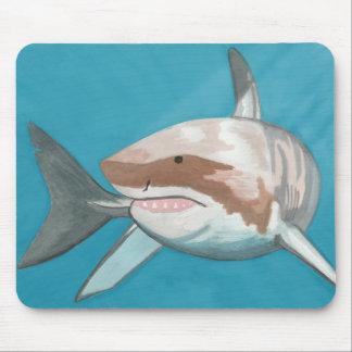 Gran tiburón blanco Mousepad