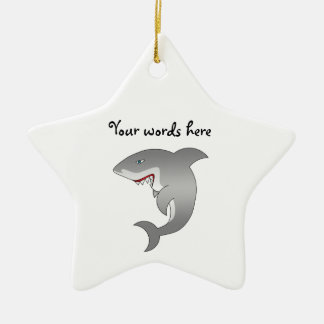 Gran tiburón blanco ornato