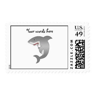 Gran tiburón blanco franqueo