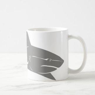 Gran tiburón blanco tazas