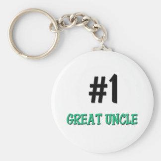 Gran tío del número 1 llavero redondo tipo pin