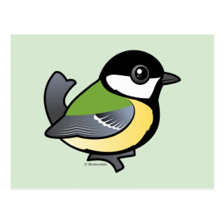 Gran Tit de Birdorable Postal