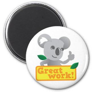 Gran trabajo de la koala imán de frigorífico