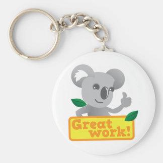 Gran trabajo de la koala llaveros personalizados