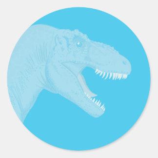 ¡Gran trabajo! Dinosaurio Pegatina Redonda