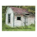 Gran ubicación - cambio de tarjeta de la dirección tarjeta postal