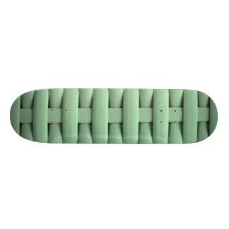 gran verde trenzado de la cesta monopatín