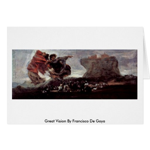 Gran Vision de Francisco De Goya Tarjetas