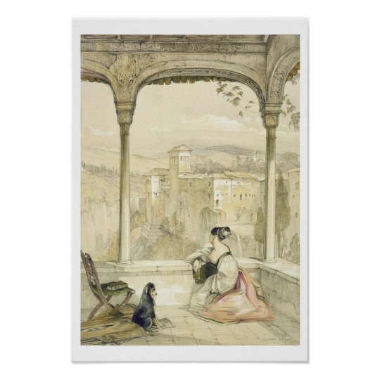 Granada (Alhambra), plate 9 from 'Sketches of Spai Poster