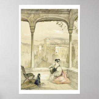 Granada (Alhambra), platea 9 de 'bosquejos de Spai Póster