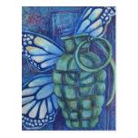 Granada con la mariposa postales