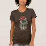 Granada con los flores de la flor camiseta