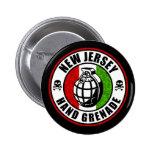 Granada de mano de New Jersey Pin