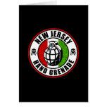 Granada de mano de New Jersey Tarjetas