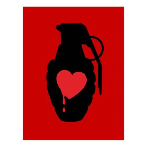 Granada del amor - el amor es un campo de batalla postal
