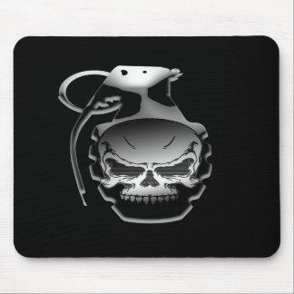 Granada del cráneo alfombrilla de ratón