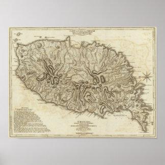 Granada del la de l'Isle de la carta Poster