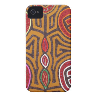 Granada del mola de Kuna iPhone 4 Case-Mate Carcasa