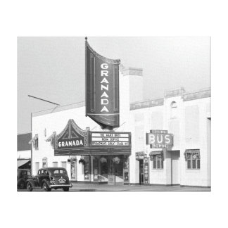 Granada Movie Theater, 1938 Canvas Print