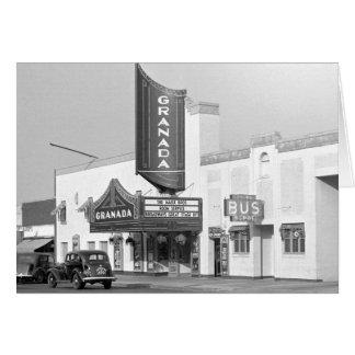 Granada Movie Theater, 1938 Card