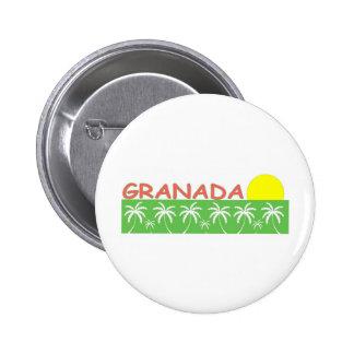 Granada Pin Redondo De 2 Pulgadas